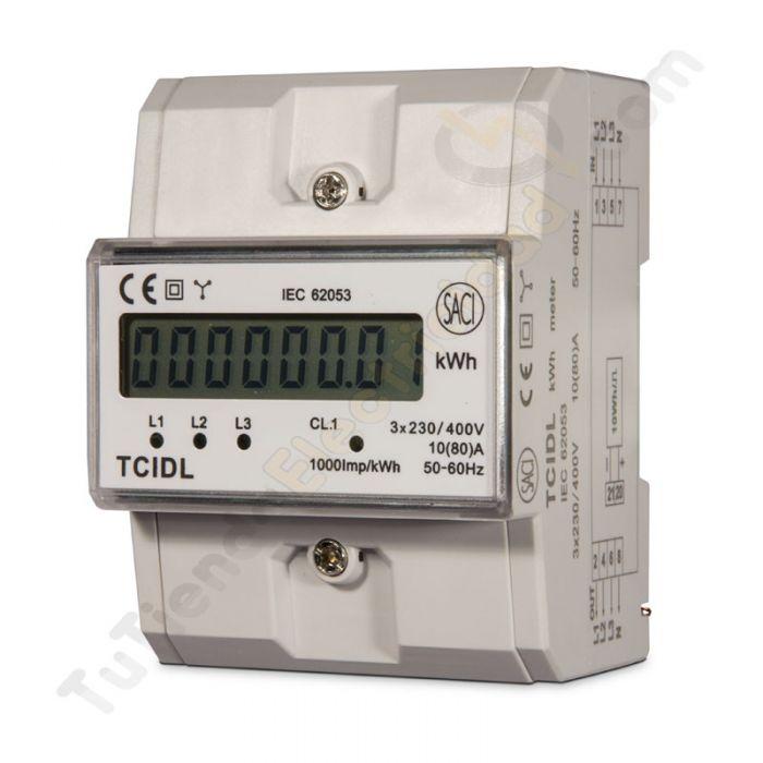 Contador digital de energia trifasico contadores electricos