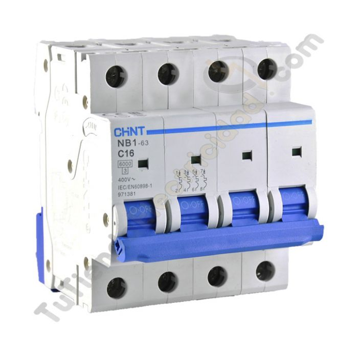 buscar online interruptores magnetotermico chint 4p 20a