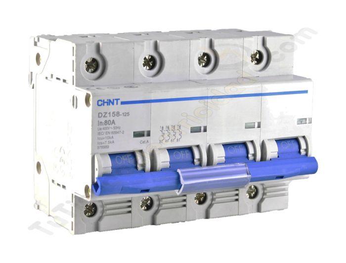 Magnetotermico chint 4p 100a protecciones electricas - Interruptor magnetotermico precio ...