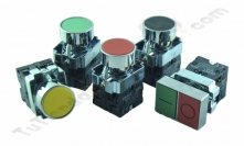 Pulsadores industriales metálicos