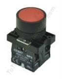pulsador industrial plastico rojo chint