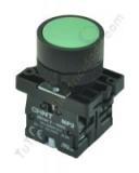 pulsador industrial verde chint