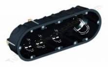 caja triple mecanismos, tabique hueco