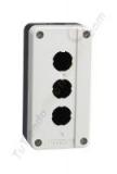 caja tres pulsadores chint NP2-B03