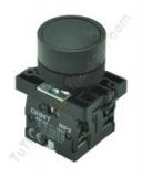 pulsador industrial plastico negro chint