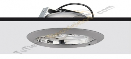 Downlights secom ducto cromo mate 2x26W